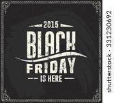 black friday vector label... | Shutterstock .eps vector #331230692