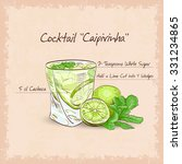 caipirinha   national cocktail... | Shutterstock .eps vector #331234865