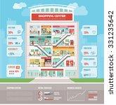 shopping center building... | Shutterstock .eps vector #331235642
