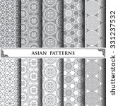asian vector pattern pattern... | Shutterstock .eps vector #331237532