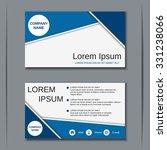 modern business visiting card ... | Shutterstock .eps vector #331238066