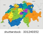colorful switzerland political...   Shutterstock .eps vector #331240352