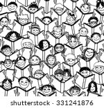 hand drawn seamless pattern of... | Shutterstock .eps vector #331241876