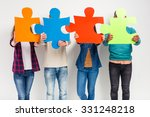 group young people  students on ... | Shutterstock . vector #331248218