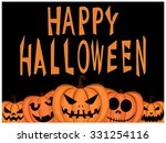 happy halloween greeting card... | Shutterstock .eps vector #331254116