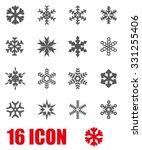 vector grey snowflake icon set. | Shutterstock .eps vector #331255406