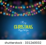 merry christmas greetings with... | Shutterstock .eps vector #331260032