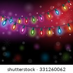 merry christmas greetings with... | Shutterstock .eps vector #331260062