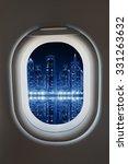 airplane window from interior... | Shutterstock . vector #331263632
