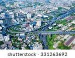 overlooking view of bangkok's... | Shutterstock . vector #331263692