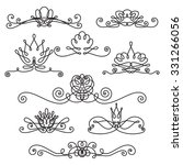 scroll stylized flowers  vector ... | Shutterstock .eps vector #331266056