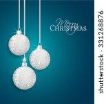 vector christmas balls on a...   Shutterstock .eps vector #331268876