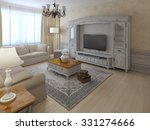 shabby chil interior of lounge... | Shutterstock . vector #331274666