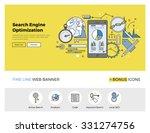 flat line design of web banner... | Shutterstock .eps vector #331274756