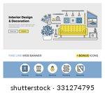 flat line design of web banner... | Shutterstock .eps vector #331274795