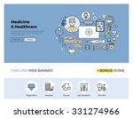 flat line design of web banner... | Shutterstock .eps vector #331274966