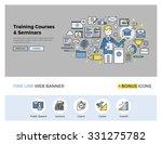flat line design of web banner... | Shutterstock .eps vector #331275782
