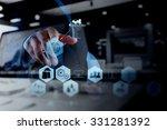 double exposure of businessman... | Shutterstock . vector #331281392
