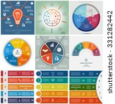 set 9 templates  infographics...   Shutterstock .eps vector #331282442