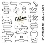 set of variously shaped ribbon... | Shutterstock .eps vector #331284296