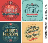 christmas set   typographic... | Shutterstock .eps vector #331287476