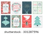 Christmas Hand Drawn Card Set....