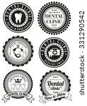 set of dental clinic round... | Shutterstock .eps vector #331290542