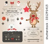set of christmas ornaments and... | Shutterstock .eps vector #331291415