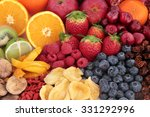 Fruit Superfood Background Wit...