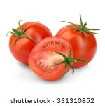 Fresh Red Tomatoes Isolated On...
