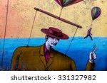 beautiful street art of... | Shutterstock . vector #331327982