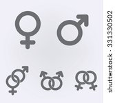 male and female symbol set .... | Shutterstock .eps vector #331330502