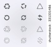 arrow icon set or recycle... | Shutterstock .eps vector #331331486