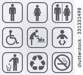 People Icon Set . Toilet...