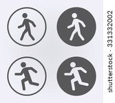 man walk and run icon set in...   Shutterstock .eps vector #331332002