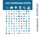 100 communication  connection ... | Shutterstock .eps vector #331332122