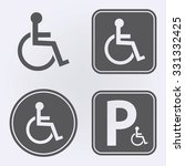 disabled handicap icon set .... | Shutterstock .eps vector #331332425