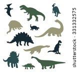 dinosaur silhouette set | Shutterstock .eps vector #331332575