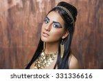 egyptian queen cleopatra   make ...   Shutterstock . vector #331336616