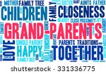 grand parents word cloud on a... | Shutterstock .eps vector #331336775