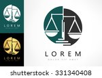 scale of justice logo | Shutterstock .eps vector #331340408