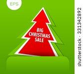 christmas discount  sale banner.... | Shutterstock .eps vector #331342892