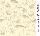 hand drawn sketch of mushrooms. ... | Shutterstock .eps vector #331343036