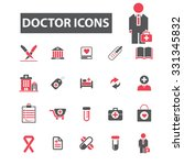 doctor icons | Shutterstock .eps vector #331345832