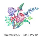 tropical flowers arrangement ... | Shutterstock . vector #331349942