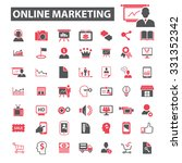 online marketing  management... | Shutterstock .eps vector #331352342