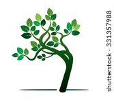 green tree. vector illustration. | Shutterstock .eps vector #331357988