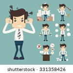 businessman stress pressure... | Shutterstock .eps vector #331358426