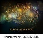 vector holiday fireworks...   Shutterstock .eps vector #331363436