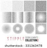 vector set of black and white... | Shutterstock .eps vector #331363478